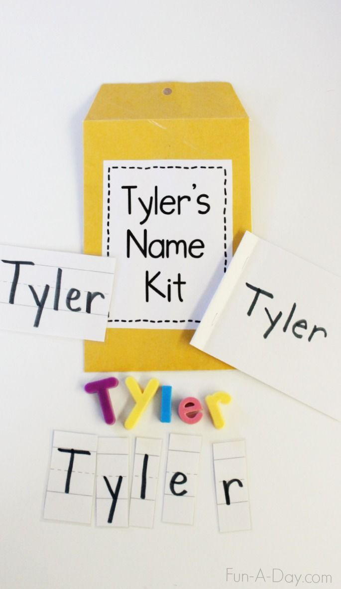 Name Kits for Preschool and Kindergarten - simple but meaningful way for teaching young children about their names and other early literacy concepts