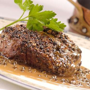Heathcotes' steak au poivre - Great British Chefs Paul Heathcote