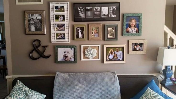 Photo gallery wall above couch – #abovecouch #couc…
