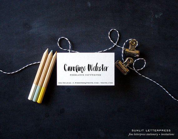 15 best custom letterpress business cards sunlit letterpress custom calligraphy brush print business cards 100 digitally printed brush script business cards custom cards calligraphy lettering reheart Gallery