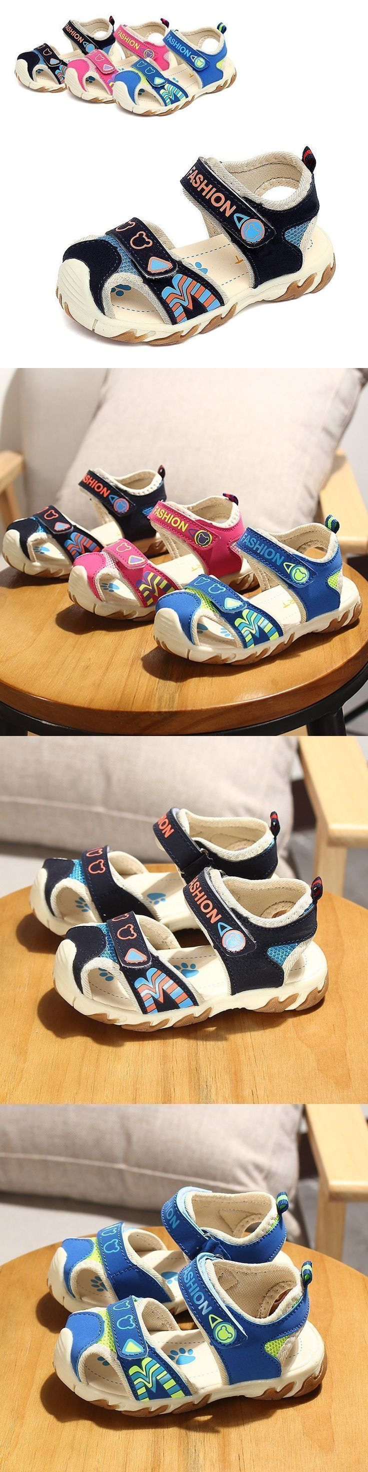 2017 Summer new boys and girls sandals baby children kids high quality soft bottom beach sandals Toddler shoes for 1-5 years old #babysandalsboy #babybottoms #toddlerbottoms #babygirlbottoms #babyboybottoms #babysandalsgirl