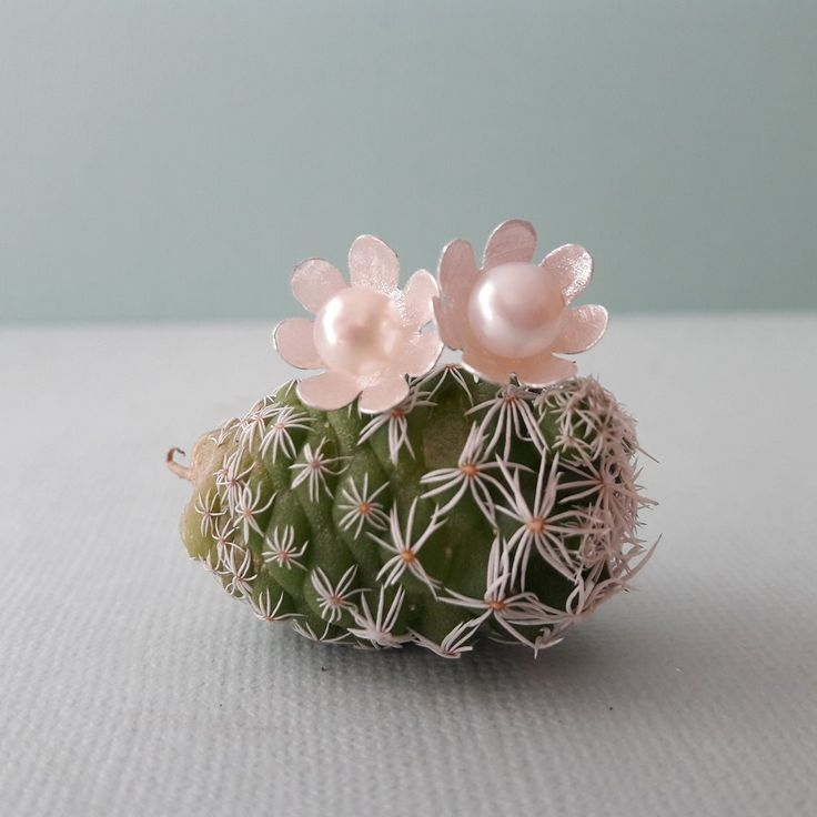 Sterling Silver and Pearls Flower Measures approximately 1 cm x 1 cm Matt brushed finish The Anemone Flower's Message is… Look forward to the future and don't