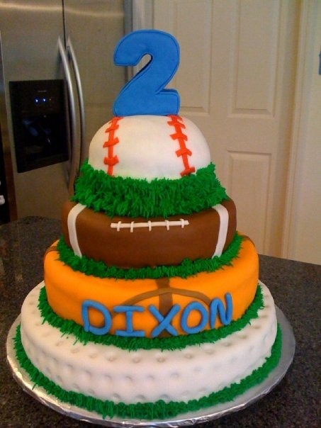 Sports - Dixons 2nd Birthday Cake- Cute for a BOY  Cakes / Cupcakes ...