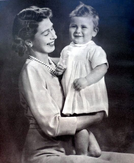 Queen Elizabeth and Prince Charles, 1949