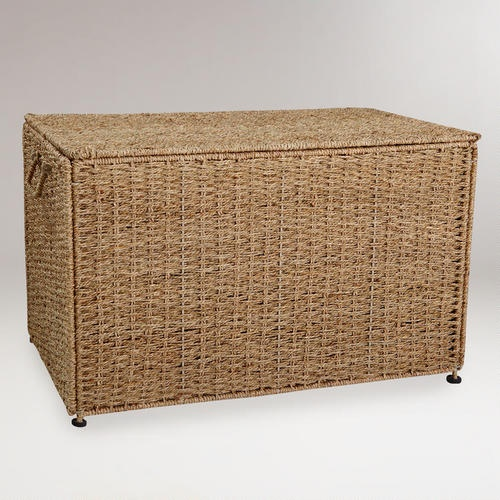 Collapsible Seagrass Trunk With Lid World Market Towel Storage And Hampers