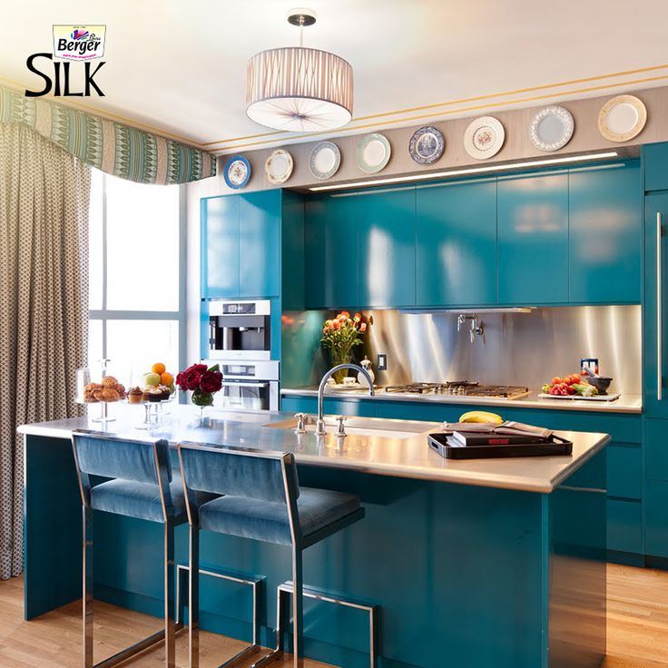 Teal Kitchen Cabinets On Pinterest: 10 Best Colours & Themes Images On Pinterest