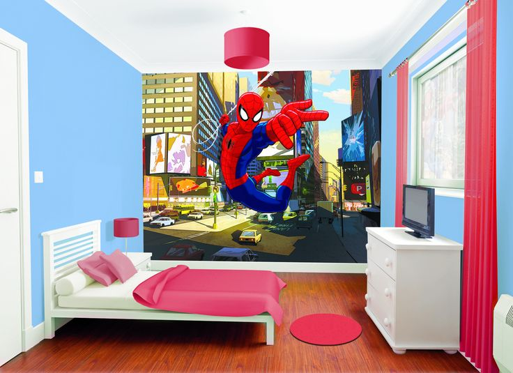 Spiderman Bedroom Decorations - Interior Paint Color Trends Check more at http://mindlessapparel.com/spiderman-bedroom-decorations/