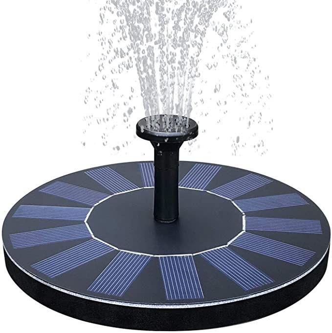 Solar Powered Floating Bird Bath Water Panel Fountain Pump Garden Pond Pool Bath