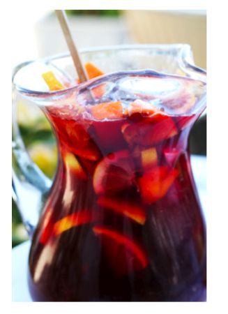 {Red wine} Sangria: Lemon Limes, Red Sangria Recipe, Triple Sec, Red Wine, Food, Girls Night, Mixed Berries, Cocktails, Drinks