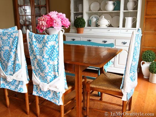 Diy Chair Back Runners Dining Room Decorating Great