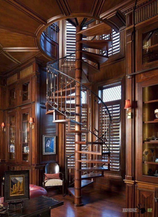 винтовые лестницы из массива