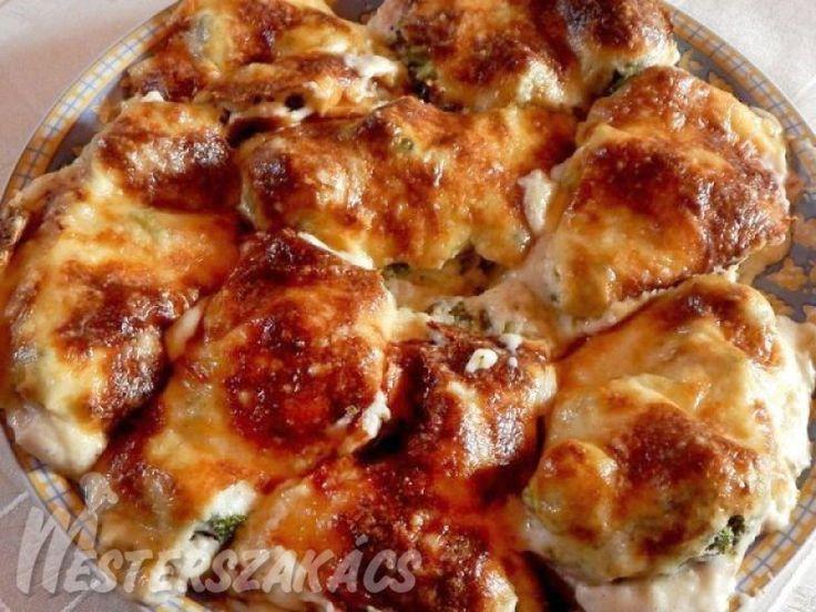 Brokkolis rakott csirkemell recept