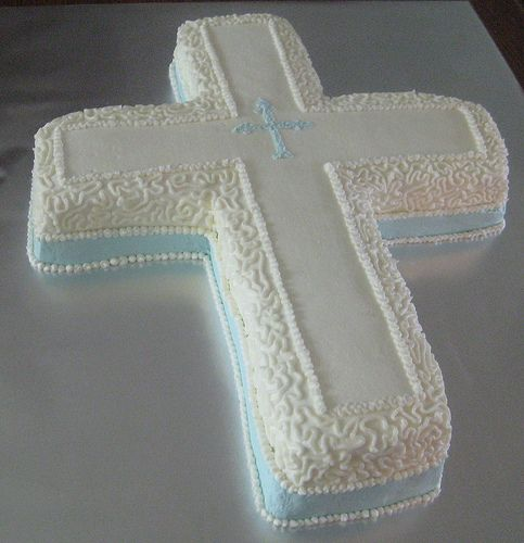 Cross Cake   all buttercream. Inspired by a cake seen here.   Aimee B   Flickr