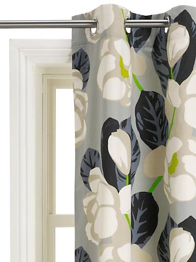 Buy Designers Guild Flamingo Park Lined Eyelet Curtains, Pair, Grey online at JohnLewis.com - John Lewis