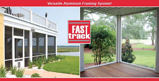 Fast Track Aluminum Screen Porch System From Screen