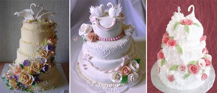 Шикарный многоярусный торт для гостей свадьбы