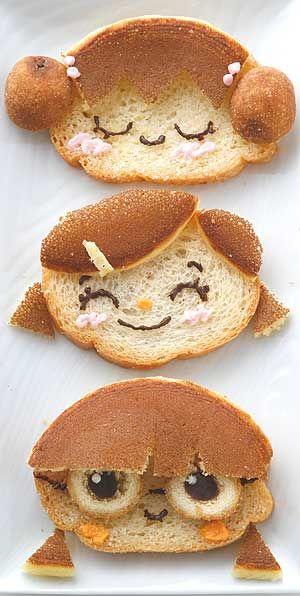 Bread decoration #kids #eat #kidseating #nice #tasty #food #kidsfood #dessert