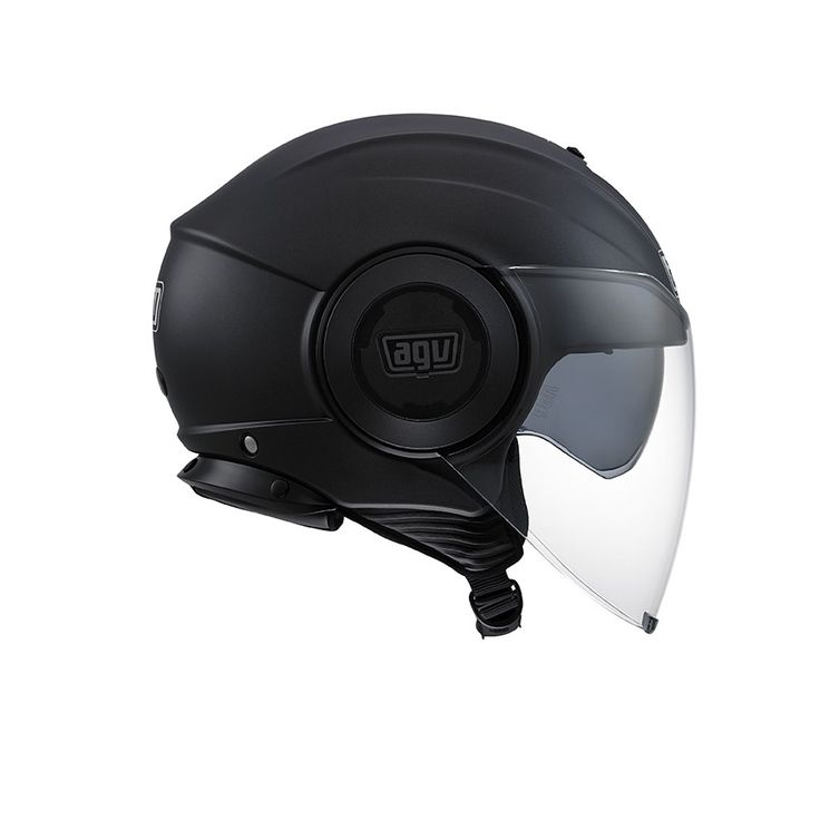 Casco moto jet AGV Fluid E2205 Mono Matt Black