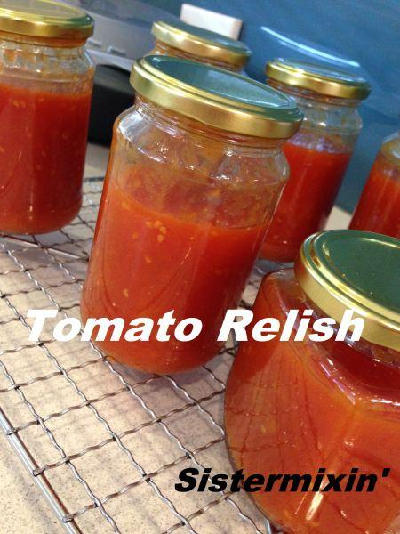 Tomato Relish - Sistermixin' Thermomix