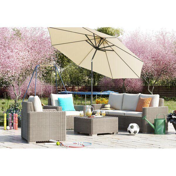 Homestead Living California 5 Seater Rattan Sofa Set Reviews Wayfair Co Uk Garden Sofa Set Garden Sofa Sofa Set