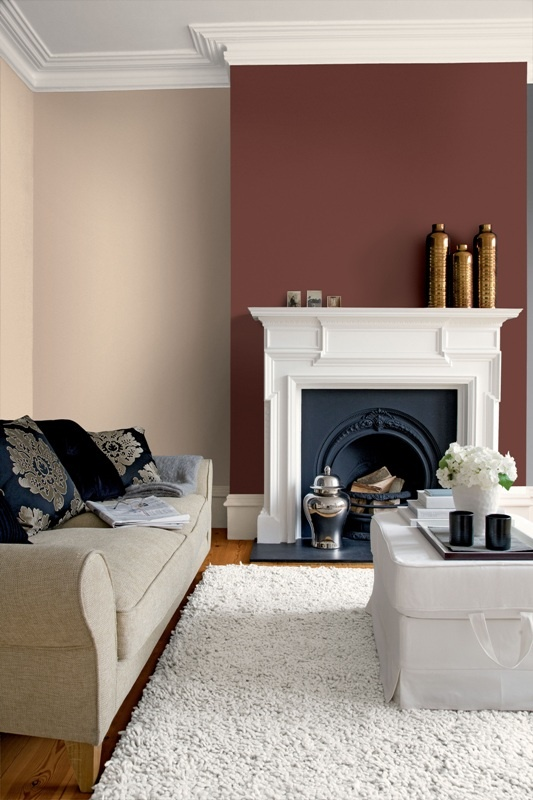 20 best feature walls images on pinterest - Crown paint colours for living room ...