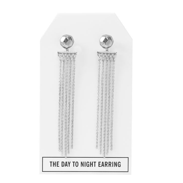 Nugget Day to Night Earring in Silver - available in gold, silver, and gunmetal. $28. #silverearrings #silverjewelry #convertiblejewelry #fancyearrings #daytonight #daytonightearrings #jewelrygift