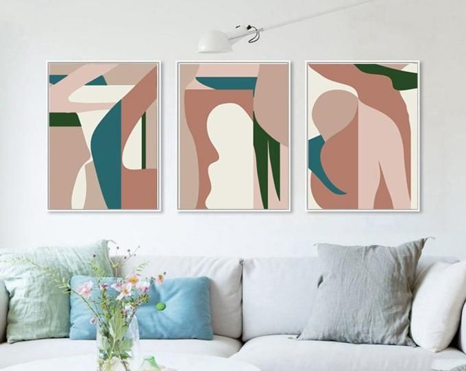 Abstract Geometric Downloadable Prints 3 Piece Wall Art Etsy Geometric Art Prints Etsy Wall Art Modern Artwork Abstract