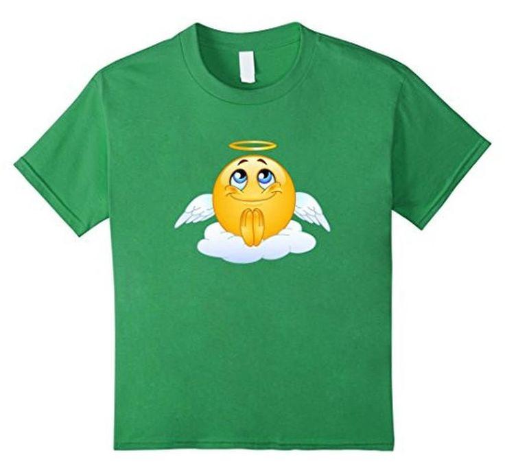 Women's Men's Emoji Angel Emoticon Emoji T-Shirt