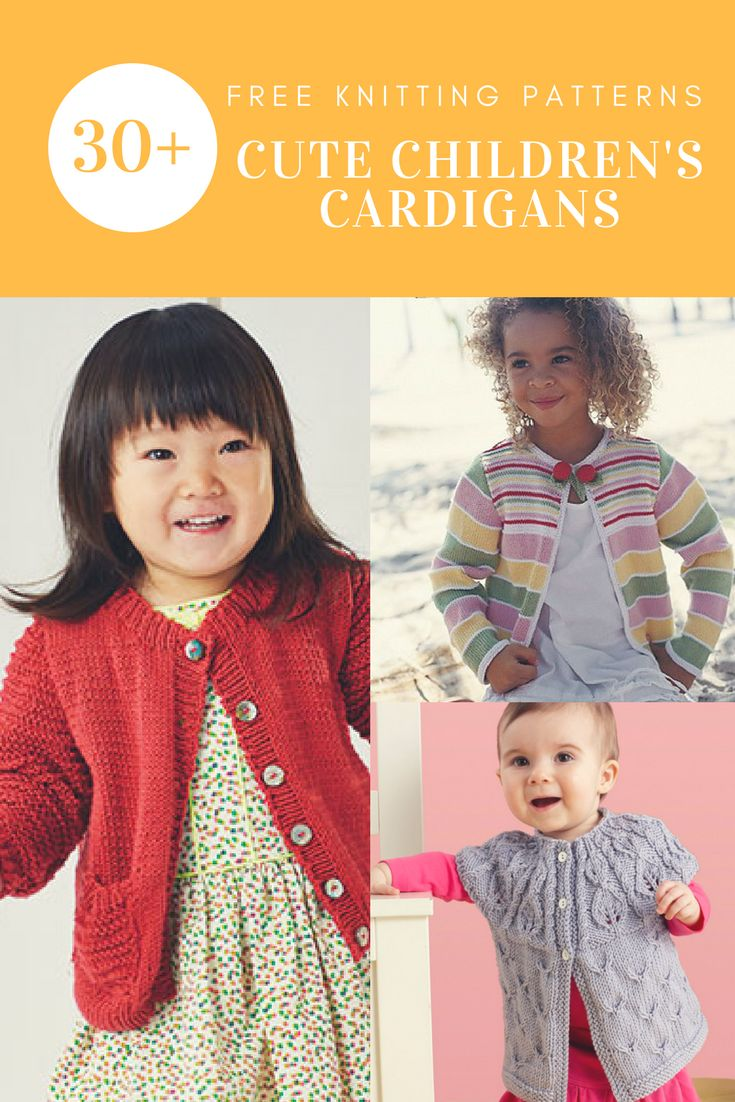 30+ Free Knitting Patterns for Childrens Cardigans