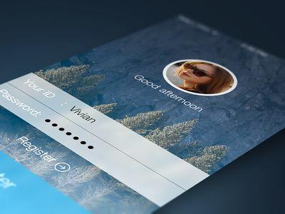 Account Login Screen #flatui #iphone