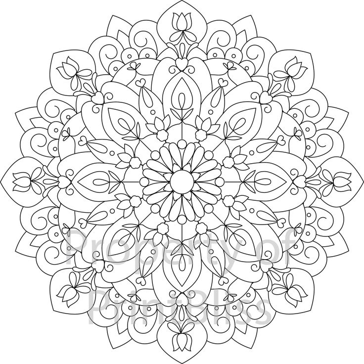 flower mandala printable coloring page