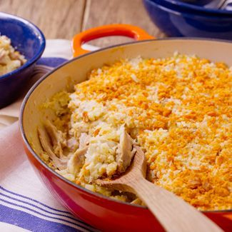 Mom's Chicken & Rice Casserole  I would omit the salt because of the saltyness of the soup use your taste buds