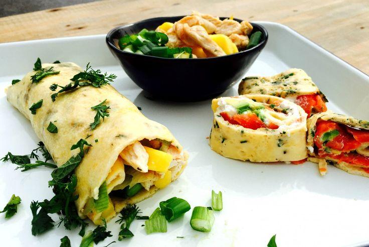 Omeletwrap : 2 variaties, 2 smaakbommen