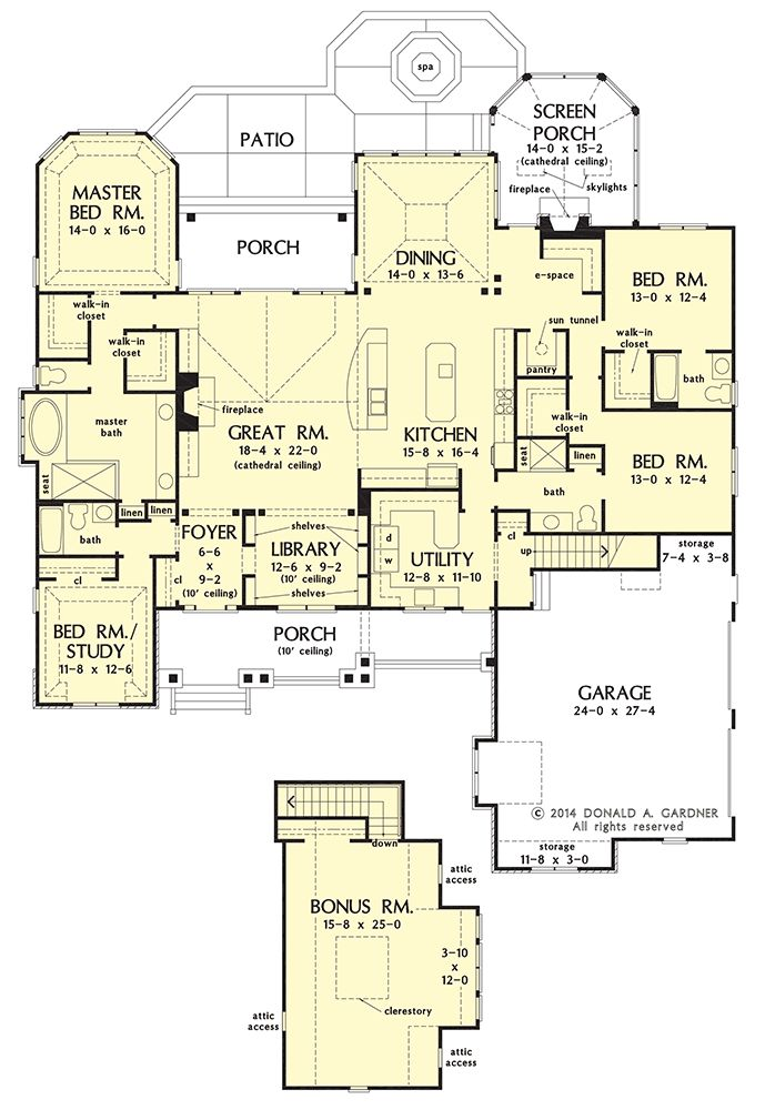 Craftsman House Plan On The Drawing Board #1409. One Level ...