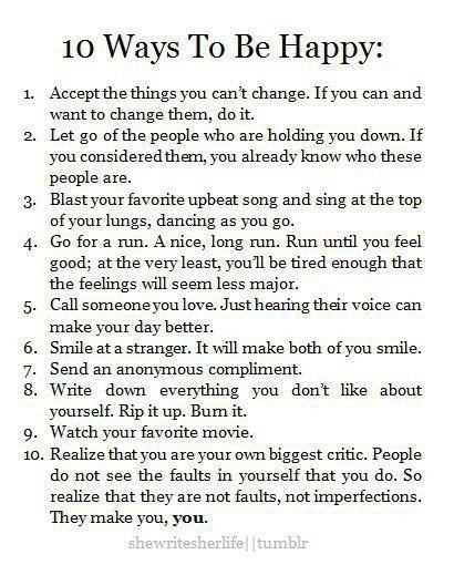 these should be the guidelines to life. plus praying! <3