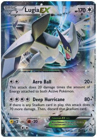 Lugia EX 68/98 Pokemon TCG: XY Ancient Origins, Holo Pokemon Card #pokemon…