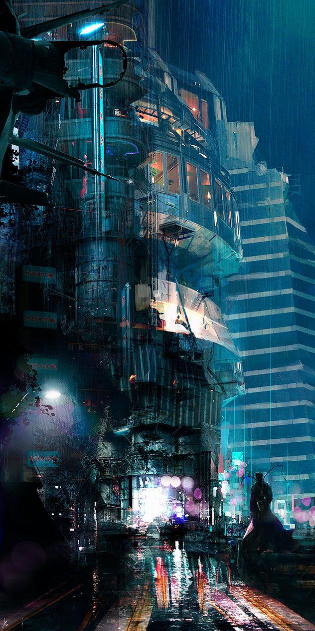 City imagery, #cyberpunk #scifi inspiration  Millenium V by ignacio197