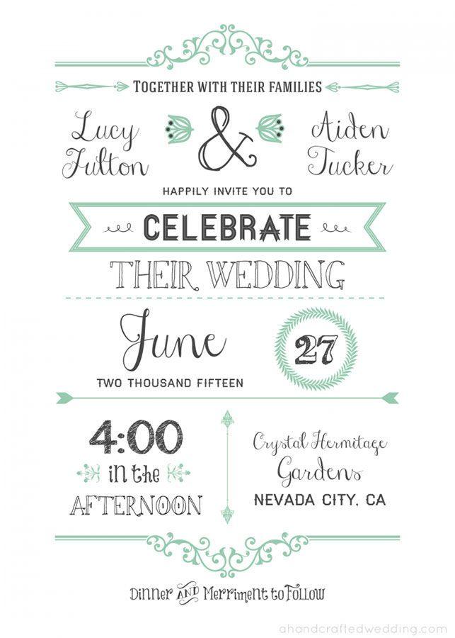 DIY. Diseña tu propia invitación de boda (incluye template). | Renata Enamorada
