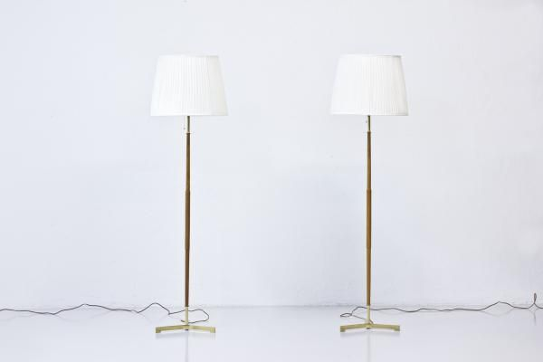 Floor Lamps from Möller Armaturer Eskilstuna, 1950s, Set of 2 1