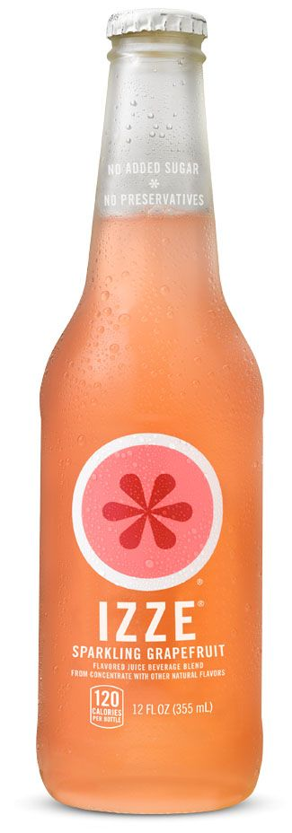 IZZE Sparkling Grapefruit | Whoever said juice can't sparkle your senses hasn't had our IZZE Sparkling Grapefruit. This crisp, tart tongue-tickler has just the right amount of bubbles to wake up every one of your taste buds. | Not to give away all our secrets here, but it's a pretty simple mix. Just 70% pure fruit juice and a splash of sparkling water. That's it. No added sugar, no high-fructose corn syrup, no preservatives, no caffeine, and no evil sciency chemical concoctions. Because at…