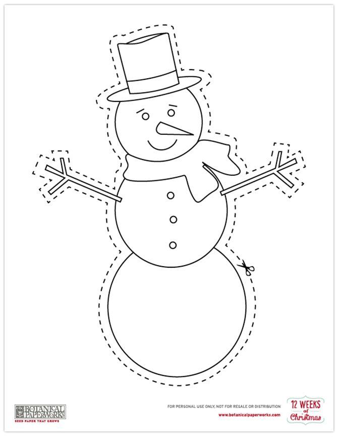 {free printables} Christmas Coloring Cutouts | Christmas ...