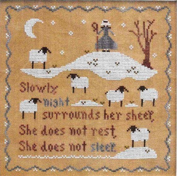 Counted Cross Stitch Pattern, Jubilee's Sheep, Cross Stitch, Cross Stitch Pattern, Scripture, Little House Needlework, PATTERN ONLY, www.farmersattic.etsy.com, $7.99