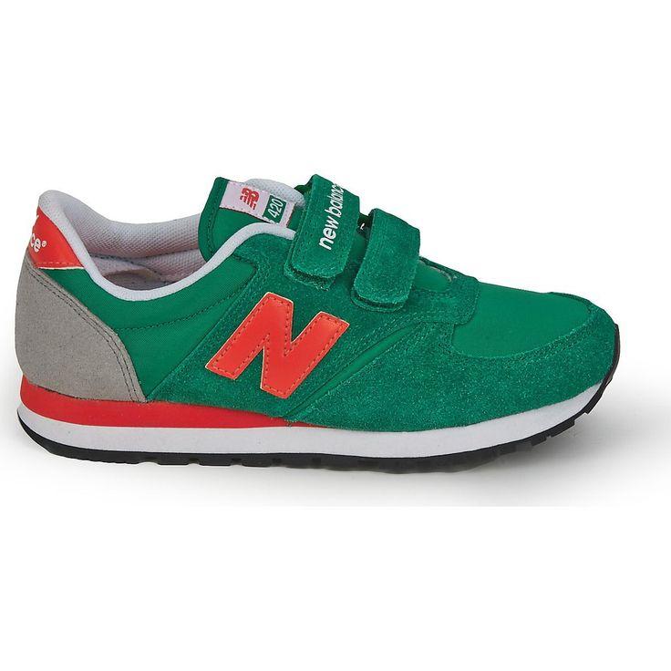 New Balance 420 Kid's Green Orange Ke420