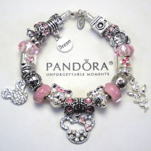 Charm Bracelets And Charms: Authentic Pandora Bracelet Pink Love Minnie & Mickey Mouse