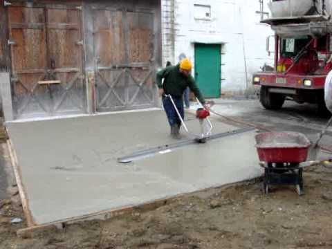 Power Screed Operation