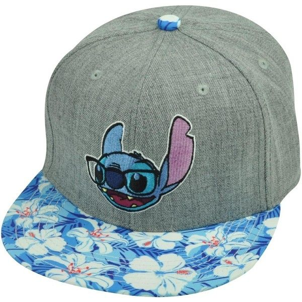 Lilo Stitch Hawaiian Floral Print Glasses Flat Bill Snapback Movie Hat... ($20) ❤ liked on Polyvore featuring accessories, hats, floral hat, caps hats, flat bill snapback, flat bill hats and cap snapback