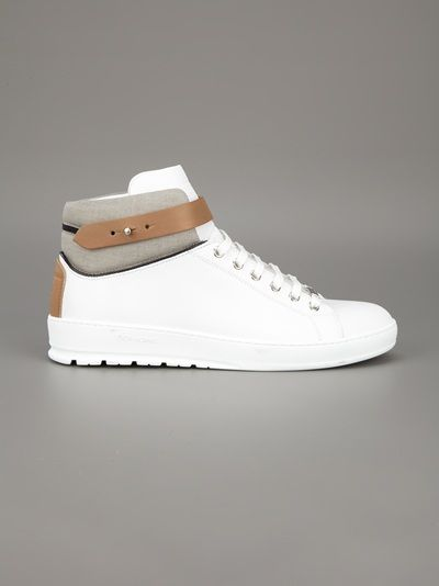 Nice Dior hi-top trainer. Like the strap detailing.