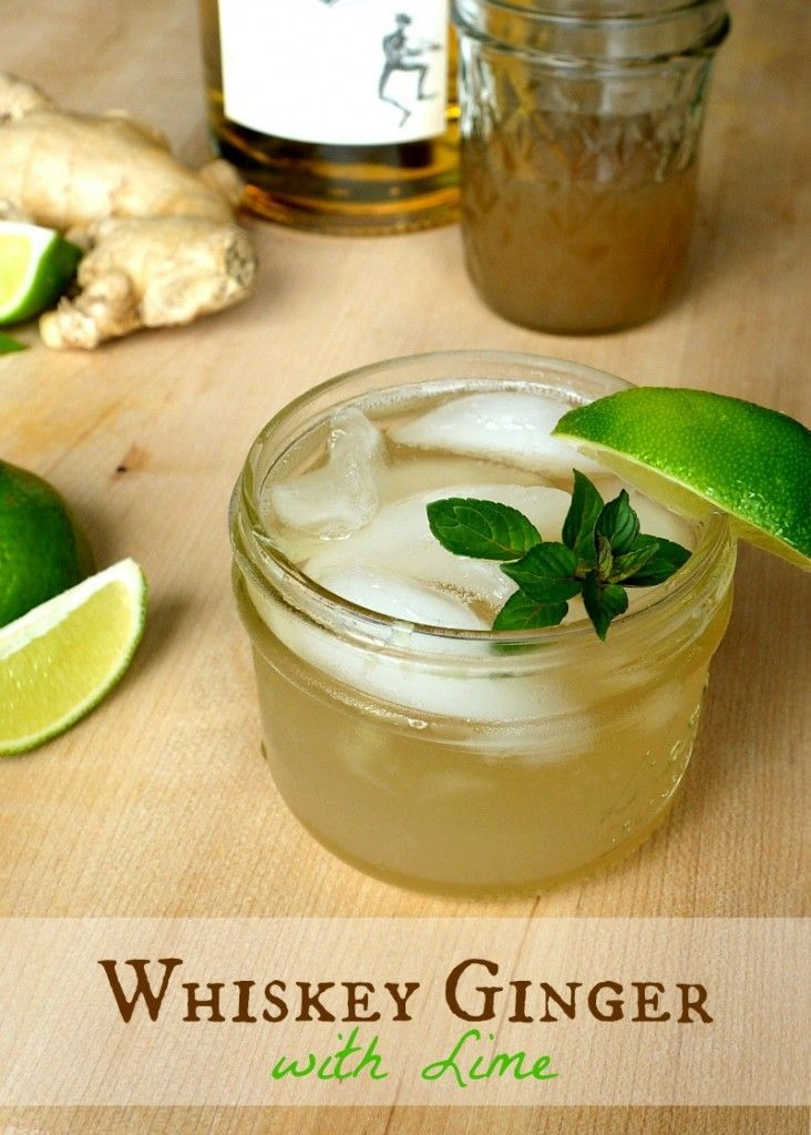 Whiskey Ginger with Lime (Recipe includes non-alcoholic option!)