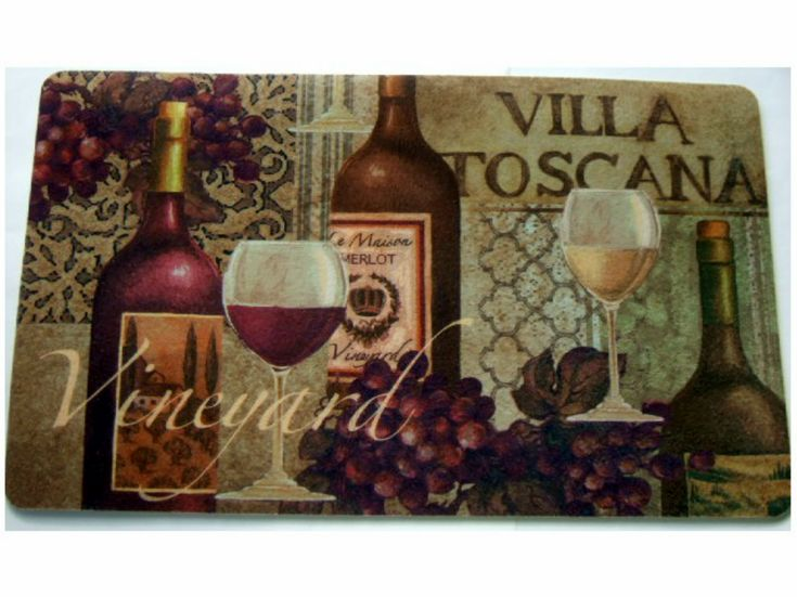 tuscan wine grapes kitchen rug cushion mat the perfect rug for your tuscan themed kitchen - Wine Themed Kitchen Ideas