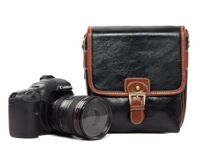 Handmade Leather DSLR Camera Pouch, SLR Camera Purse 1356S